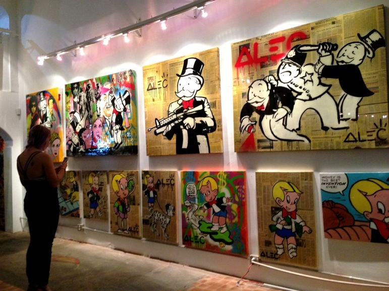 Alec monopoly park place at lab art colors in los angeles for Craft fair los angeles